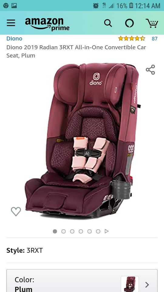 Diono 2019 Radian 3RXT  Carseat