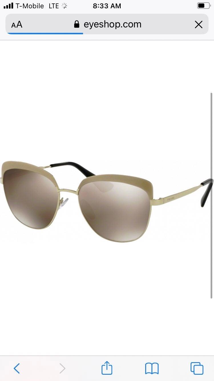 PRADA Metallized Gold Mirrored Sunglasse