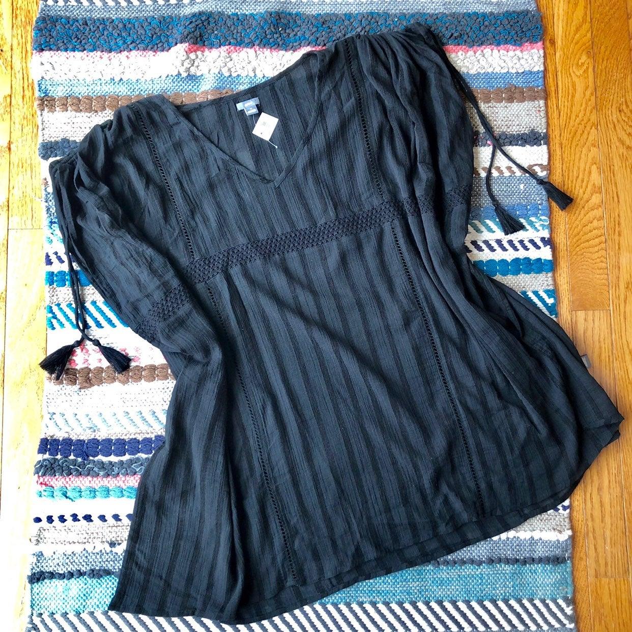 NWT Aerie Black Tassel Lace Coverup