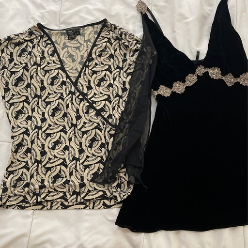 2 high end womans tops small