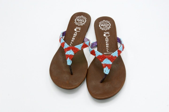 JEFFREY CAMPBELL Beaded Thong Sandals