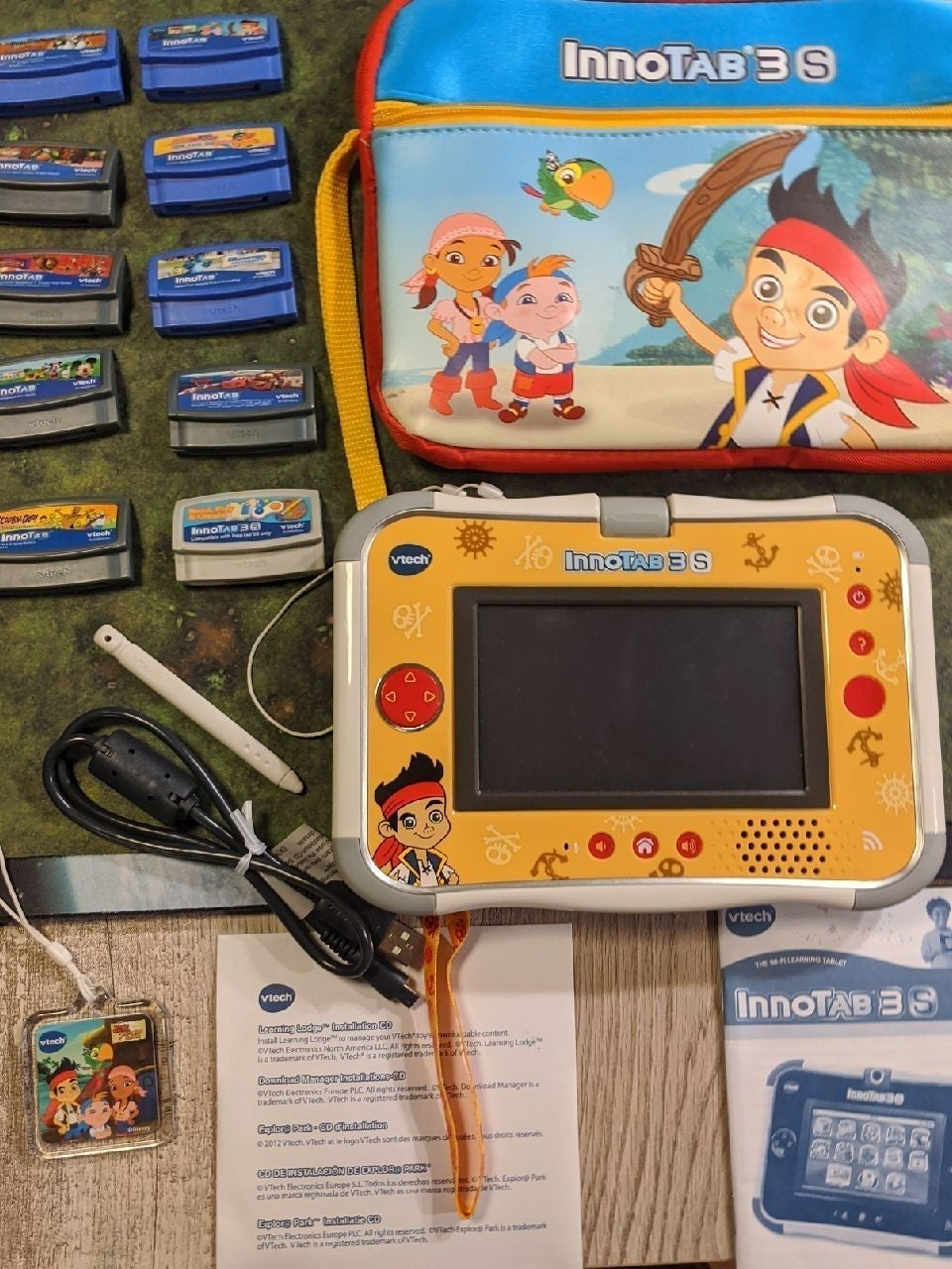 Vtech Innotab 3 S with 10 cartridges