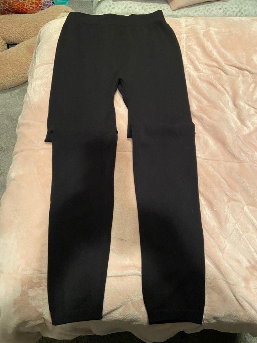 Black polyester / Spandex Leggings Size