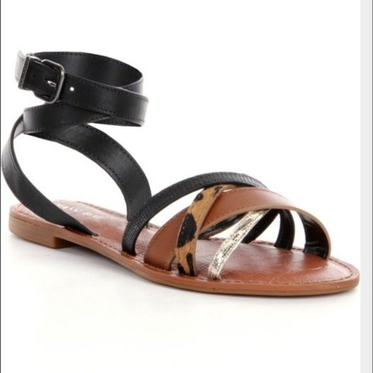 Gianni Bini Ankle Strap Calf Hair Sandal