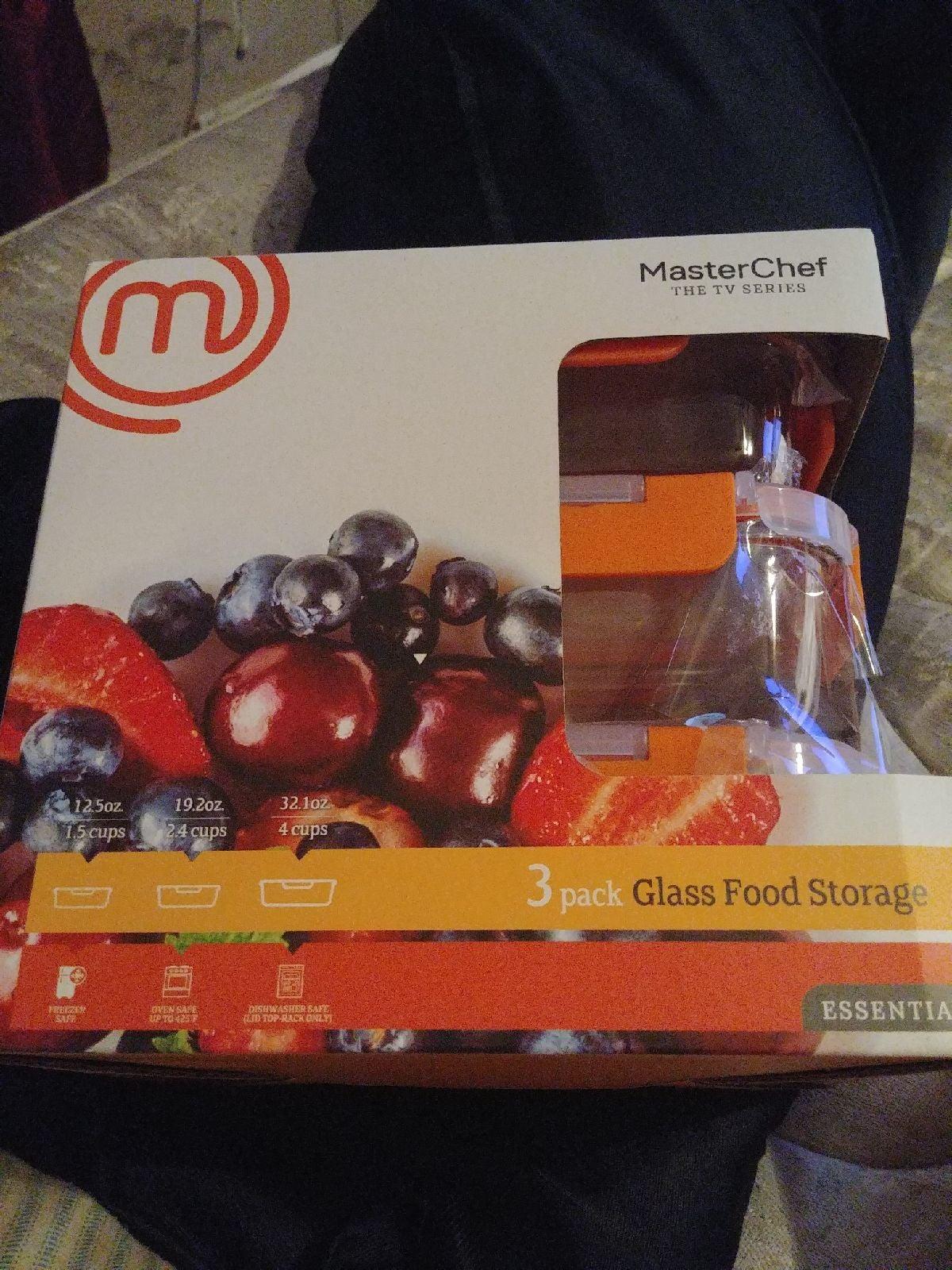 MasterChef 3 Pack Glass Food Storage