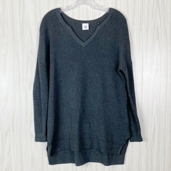 Cabi | Charcoal Snuggle Pullover Sweater
