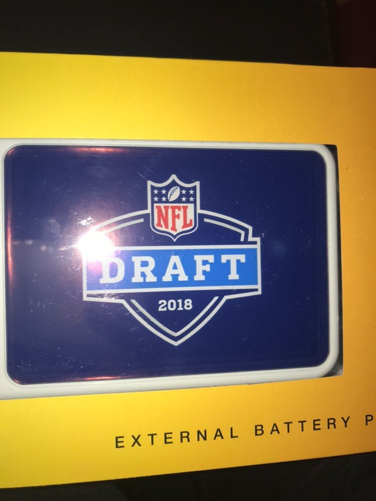 NFL Draft 2018 Portable charger