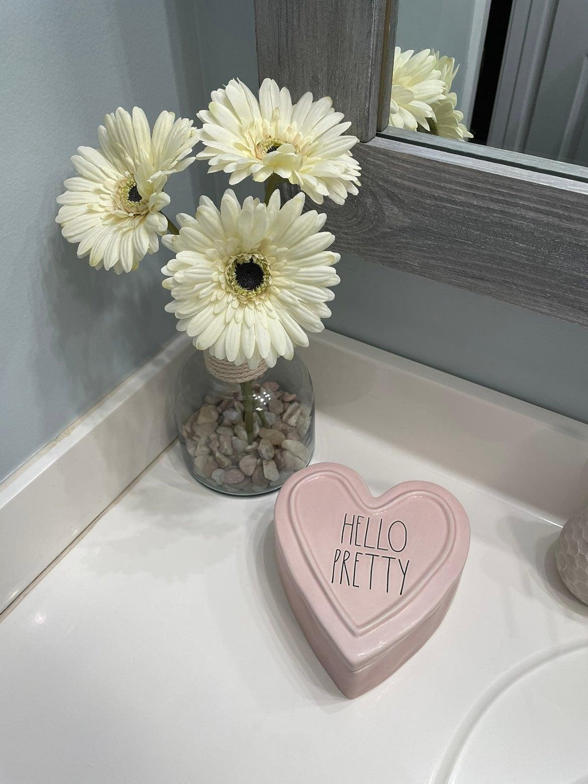 Rae Dunn Hello Pretty Heart Pink box
