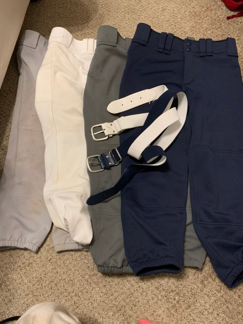 Mizuno softball pants and belt