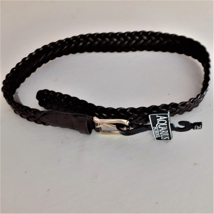 Aquarius School brown braided belt 26