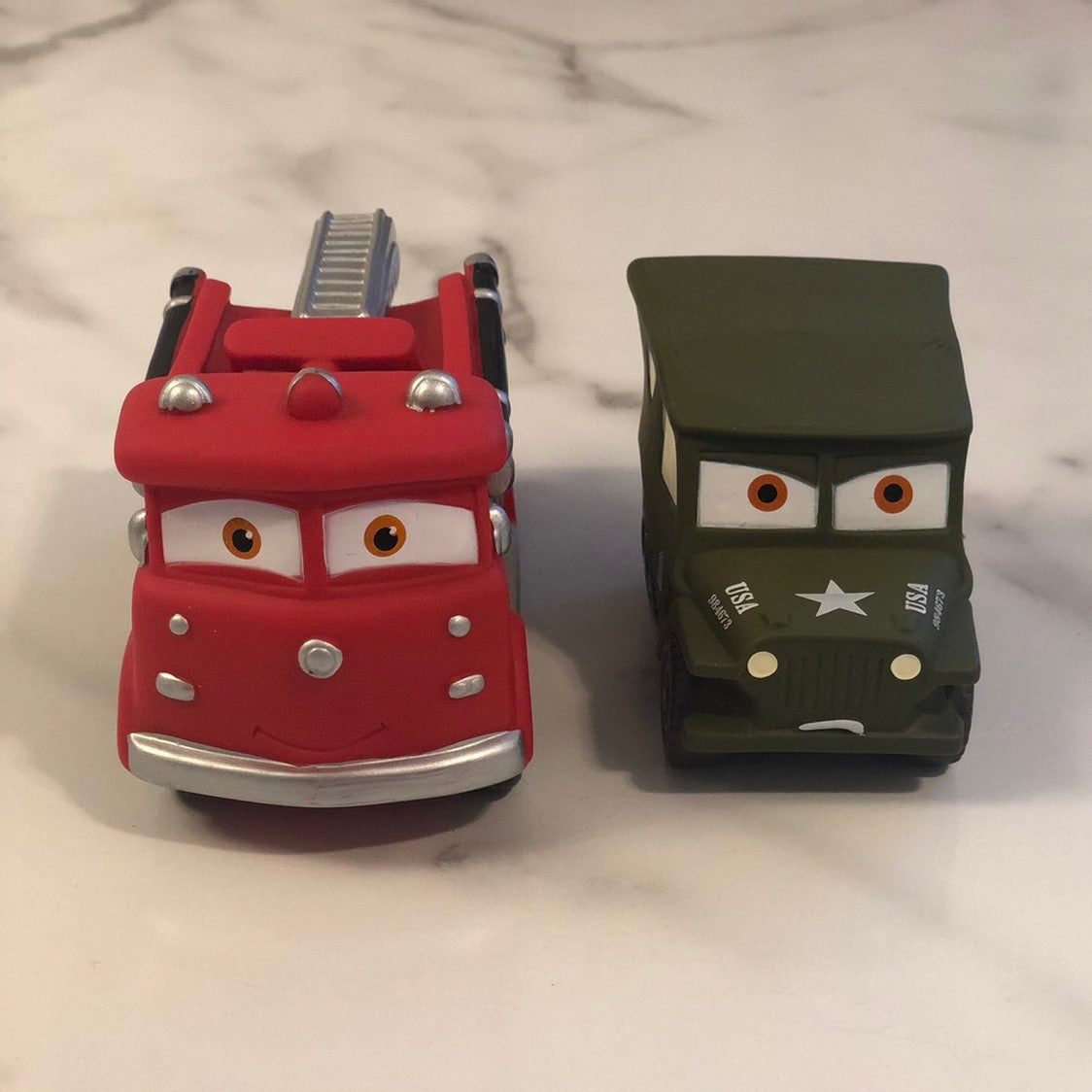 Disney Cars Red & Sarge bath toys