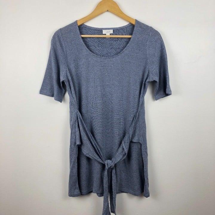Pure J.Jill Wrap Knit Tunic Shirt