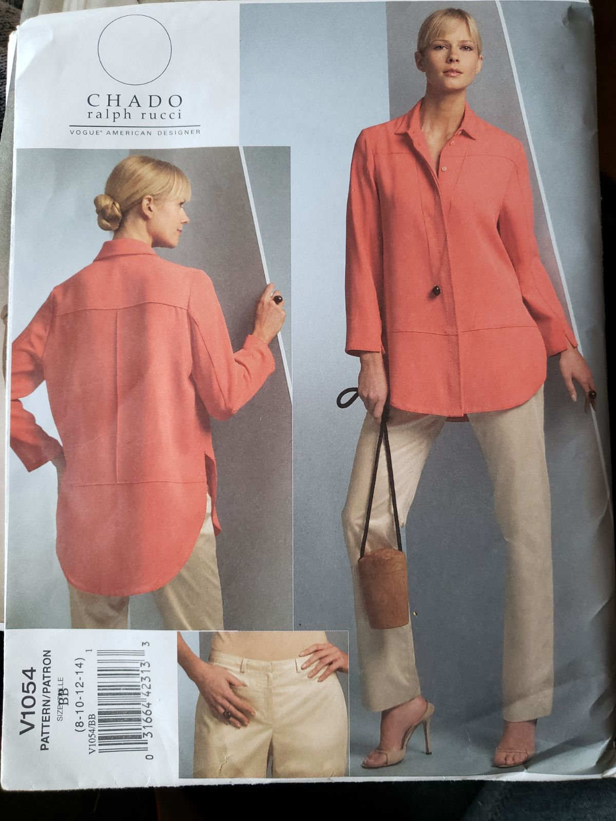 Vogue Button Down Ladies Shirt Pattern