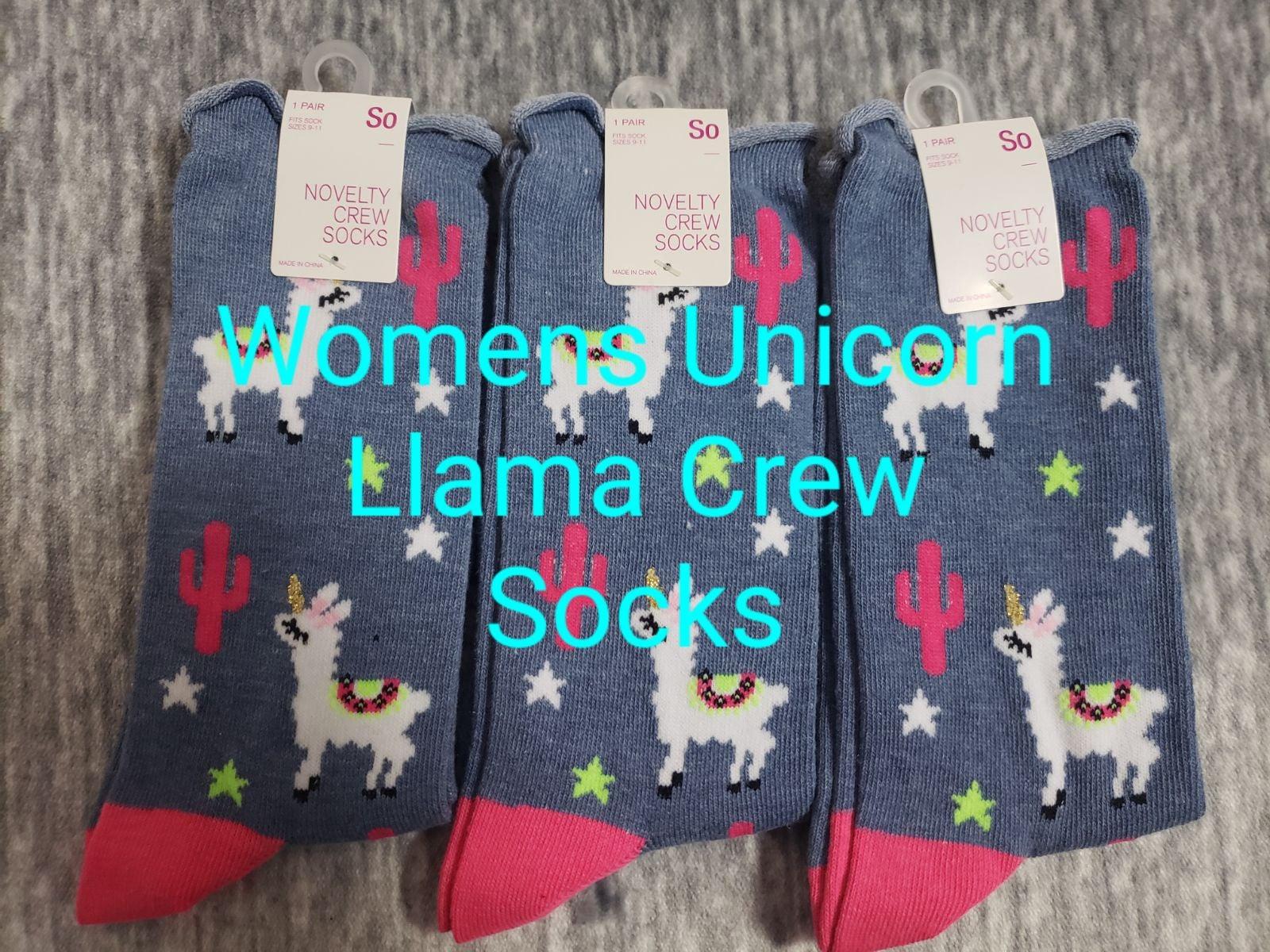 Womens Llama Novelty Crew Socks 3 PAIRS!