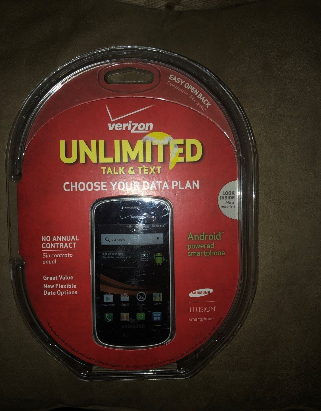 Verizon Illusion Samsung Prepaid Phone