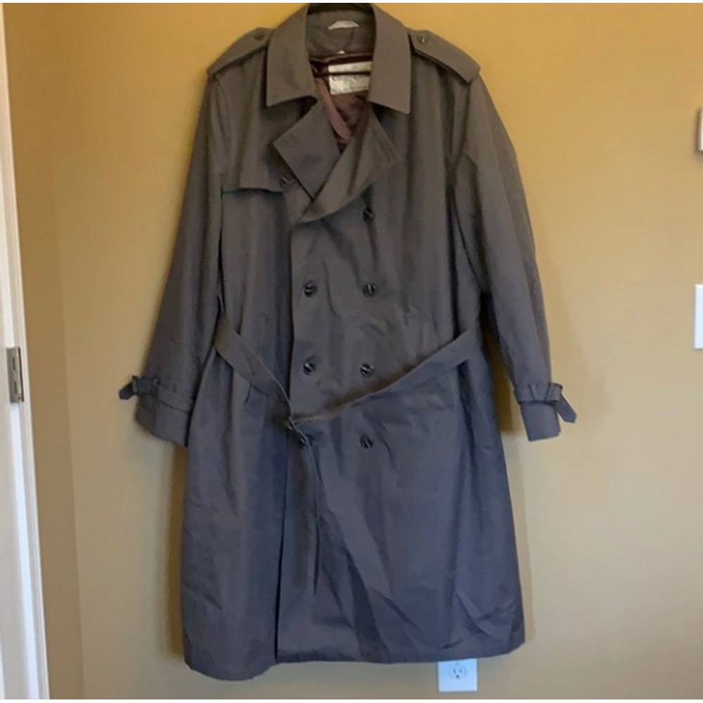 Oleg Cassini vintage lined trench coat