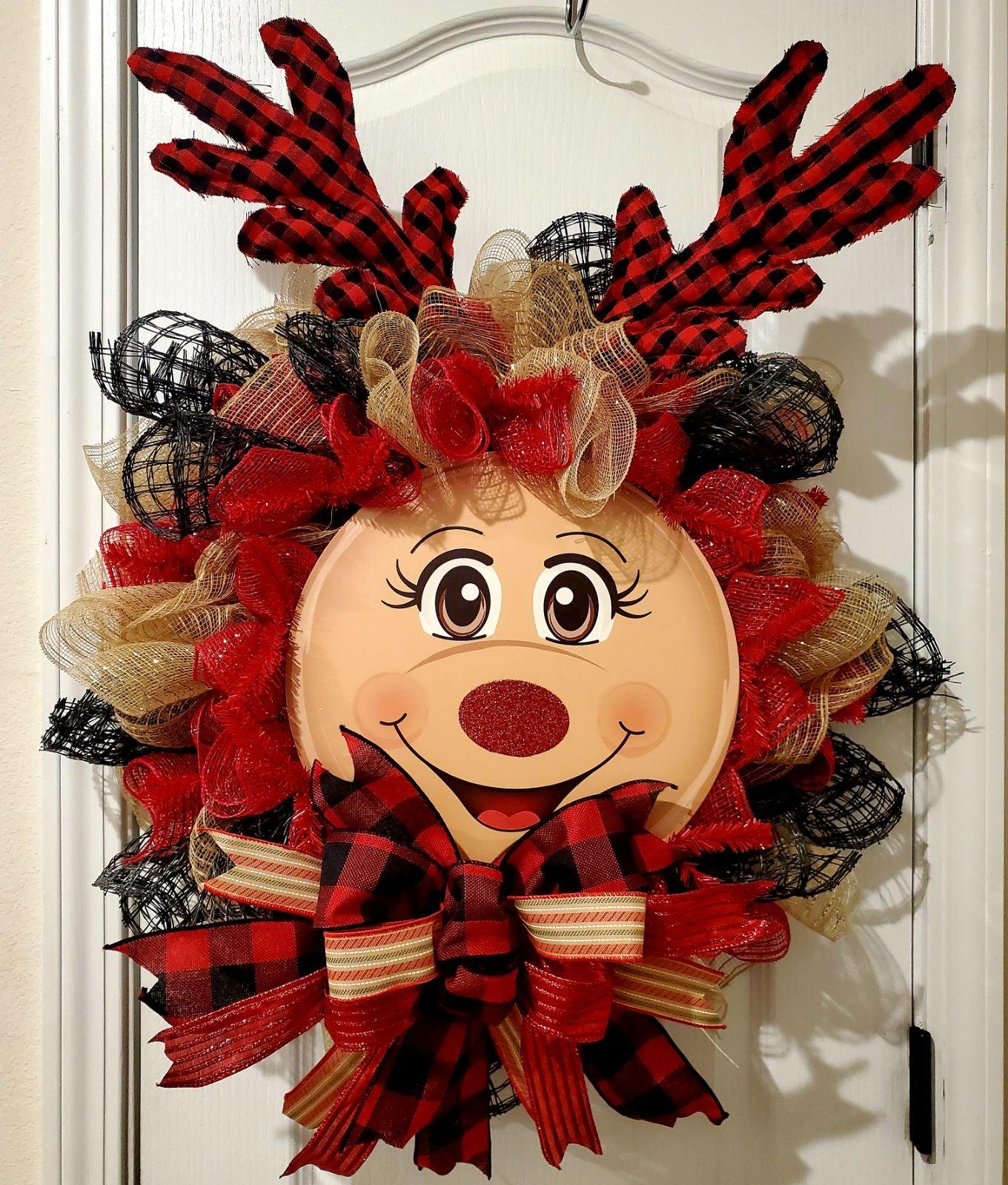 Reindeer Door Wreath