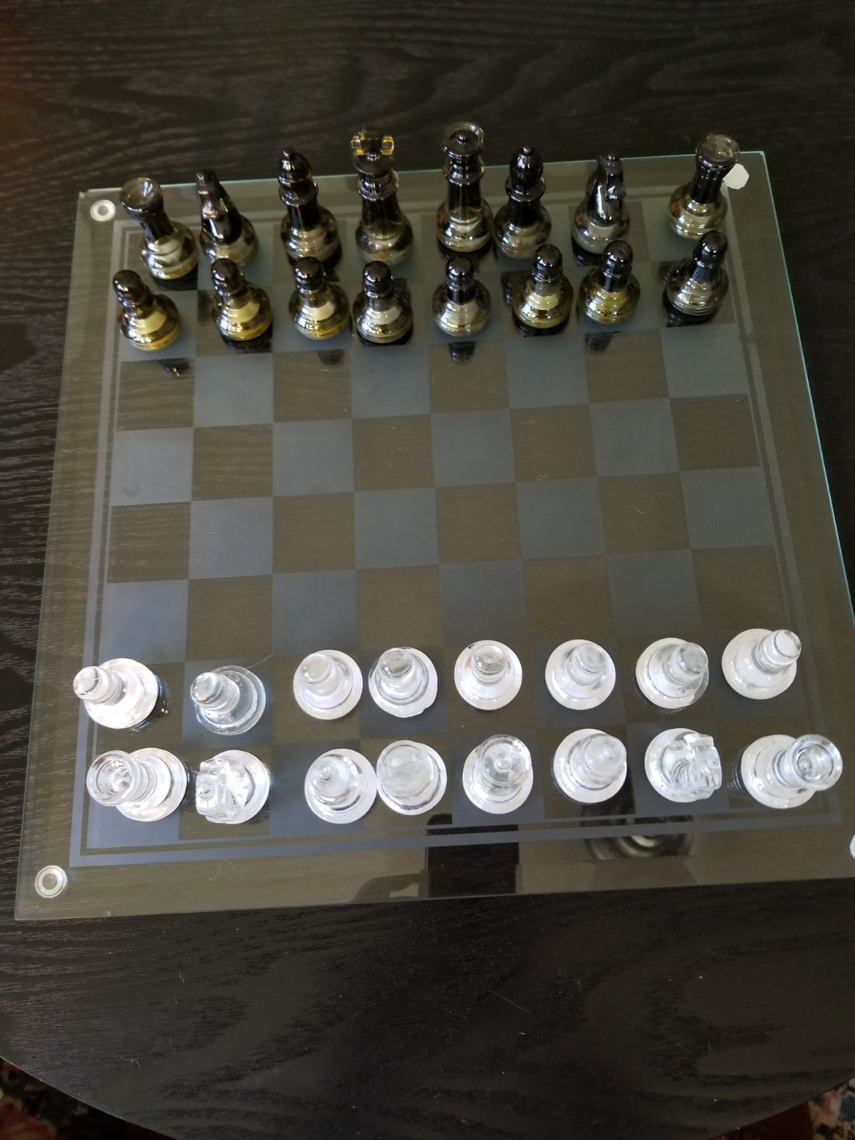 Chess set, glass
