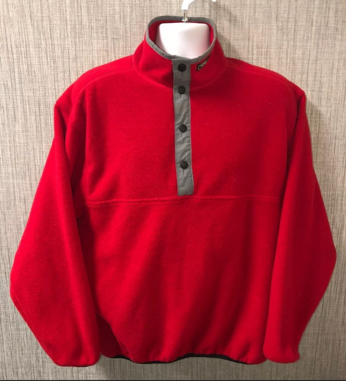 Orvis red half zip fleece jacket mens m