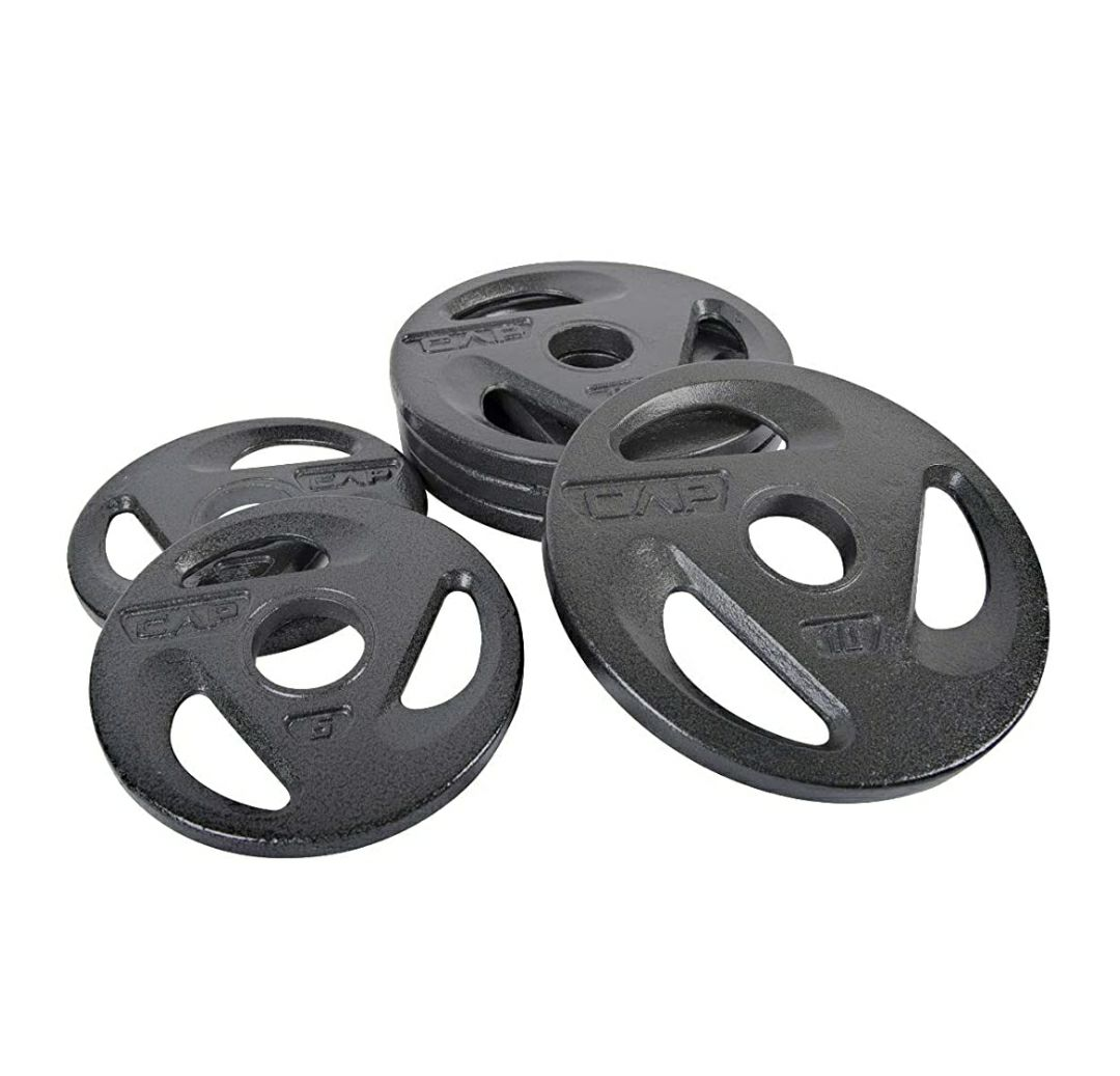 CAP 50lb Olympic weight plate set. (4x10