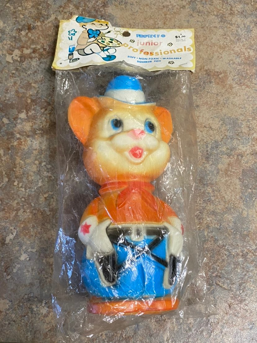 Vintage Reliance Sheriff Squeeze Toy Min