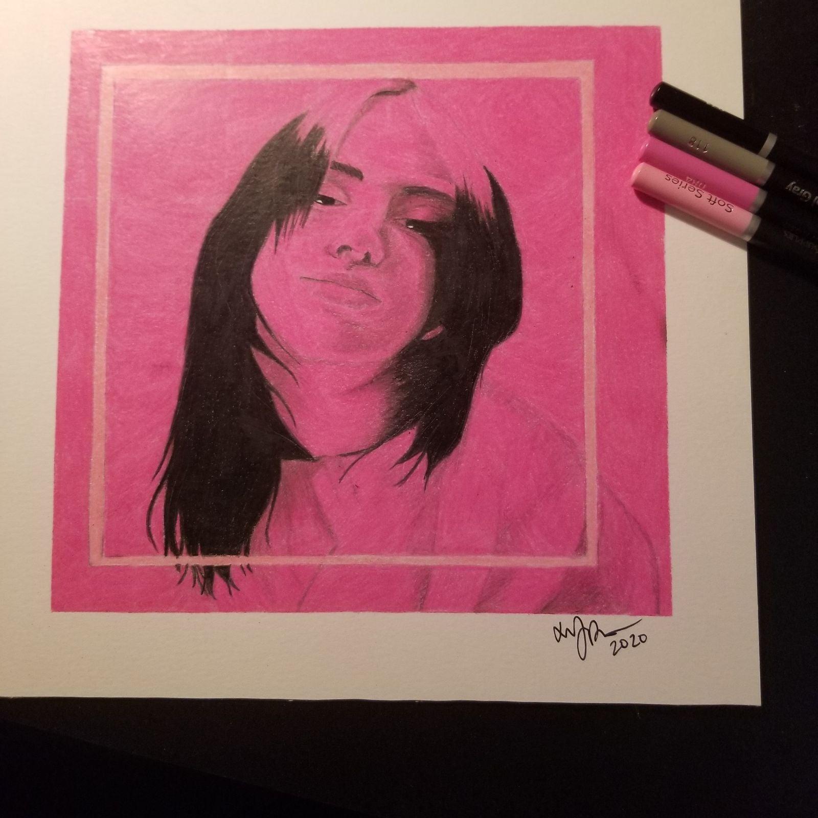 Billie Eilish Art Prismacolor Copic arts