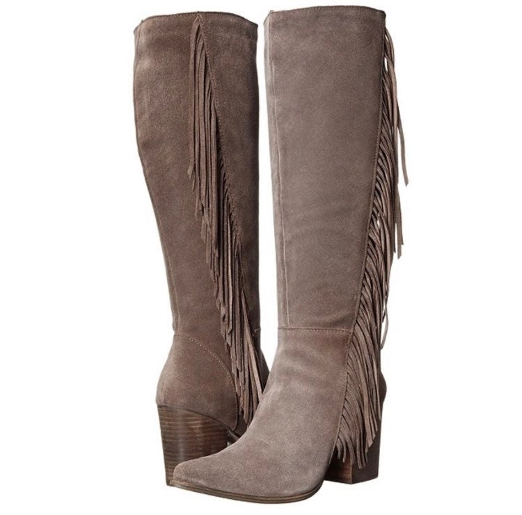 Steve Madden Suede Cacos Fringed Boots