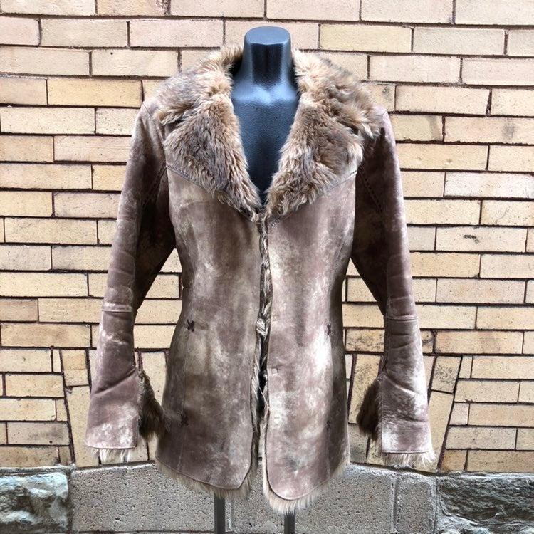 Cripple Creek leather coat M