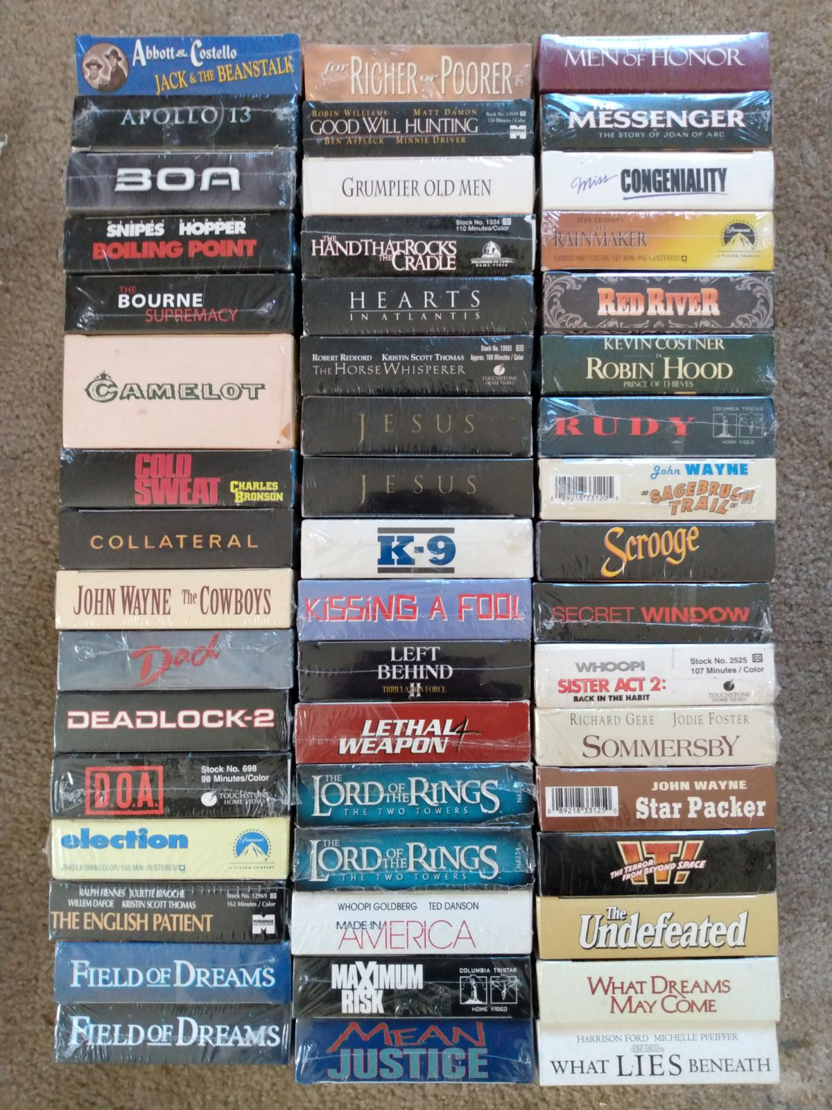 MASSIVE 49 FACTORY SEALED VHS COLLECTION