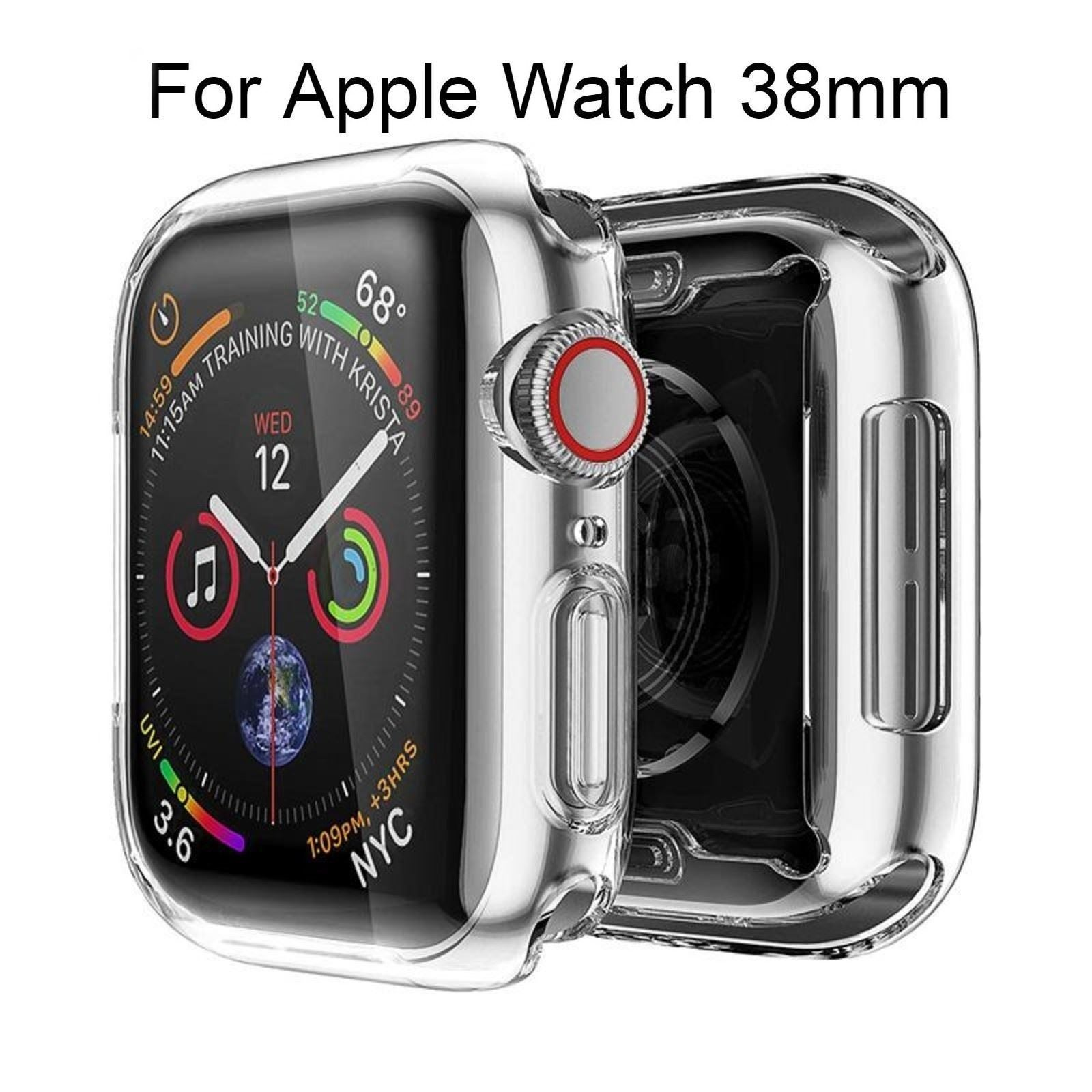 1pc For Apple Watch 38mm Clear Case