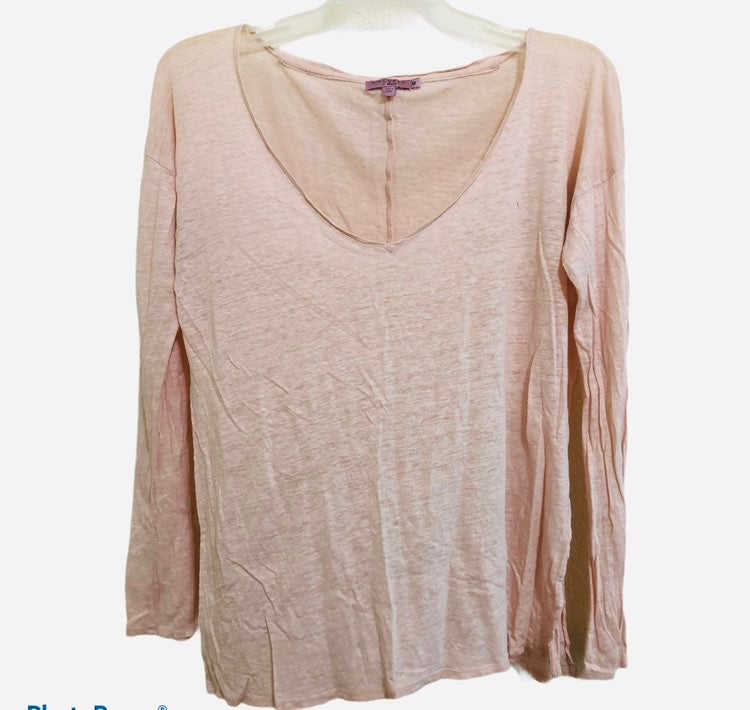 Calypso St Barth Teaberry pink linen top
