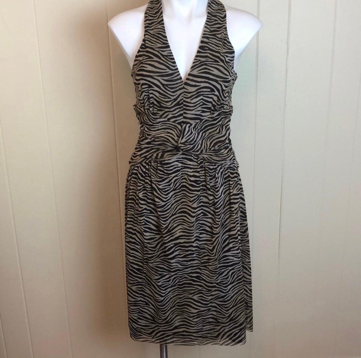 Michaels Kors Zebra Party Dress Sz S