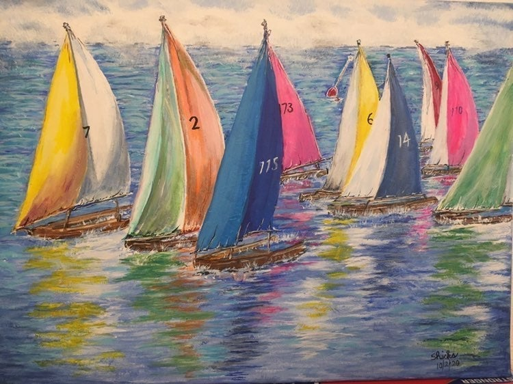 """""""Smooth Sailing"""" paintings and artwork"""