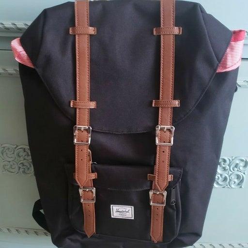 Herschel Black Backpack Bag NEW