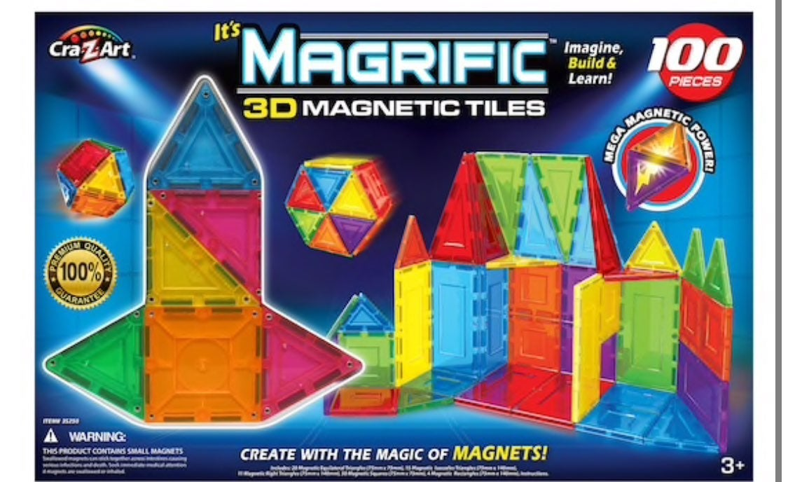 Magrific 3D magnetic tiles NEW UNOPENED