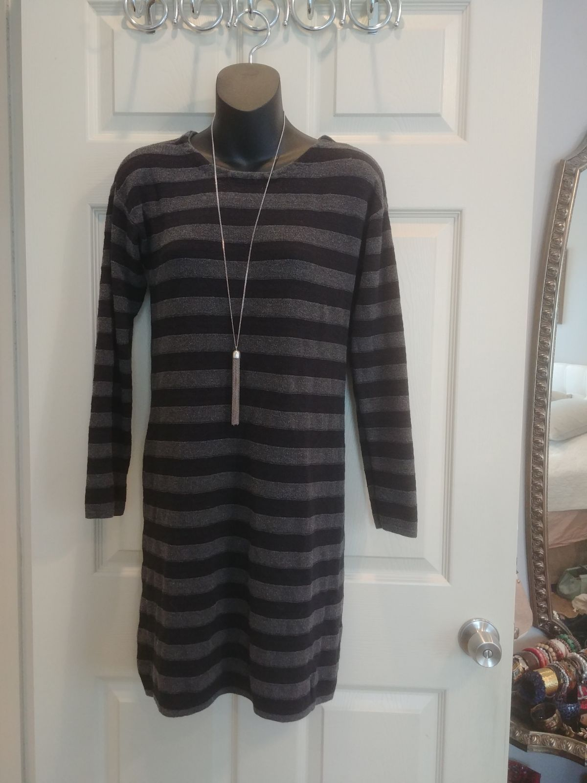 Long Striped Sweaterdress
