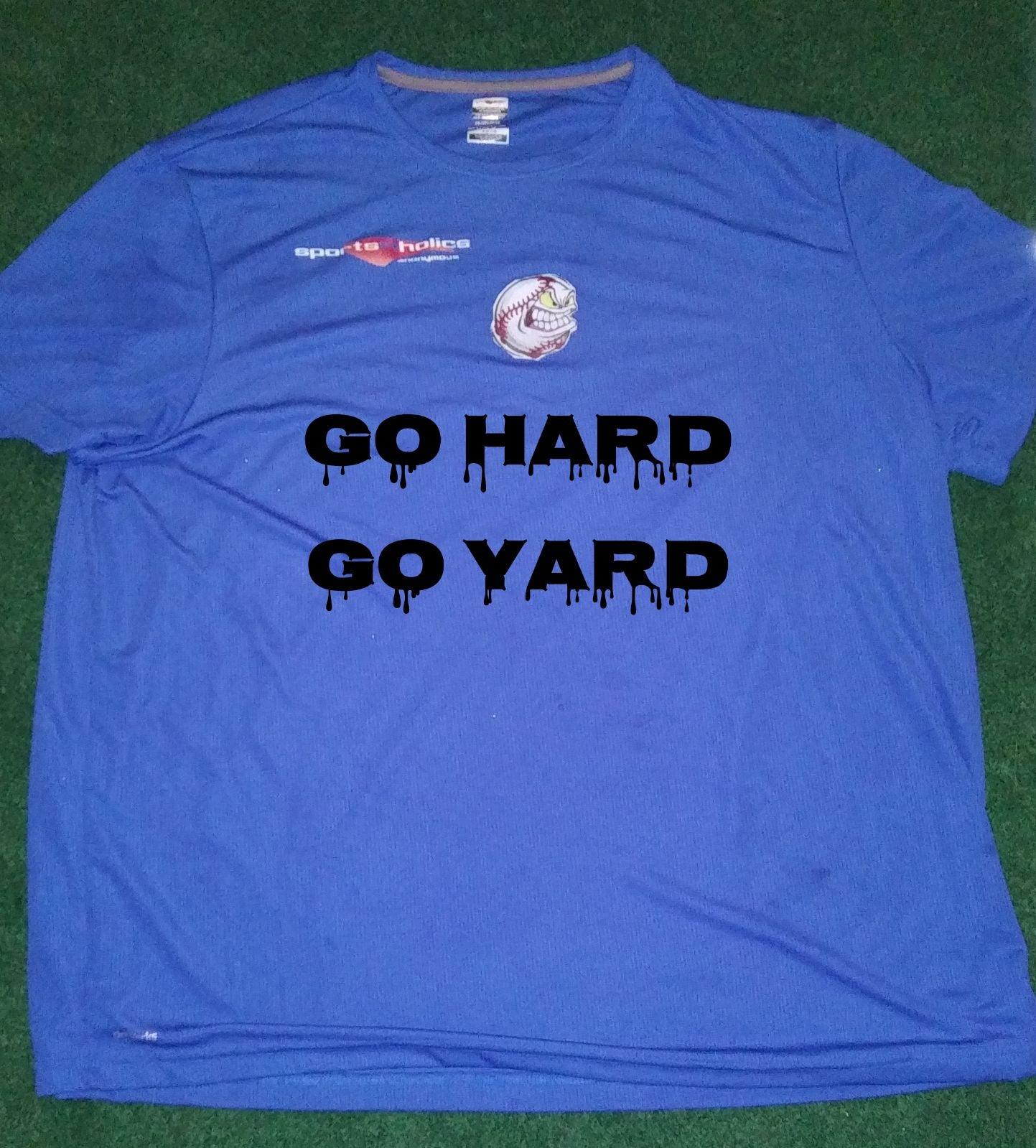 Go Hard Go Yard Batting Practice Tee Shi