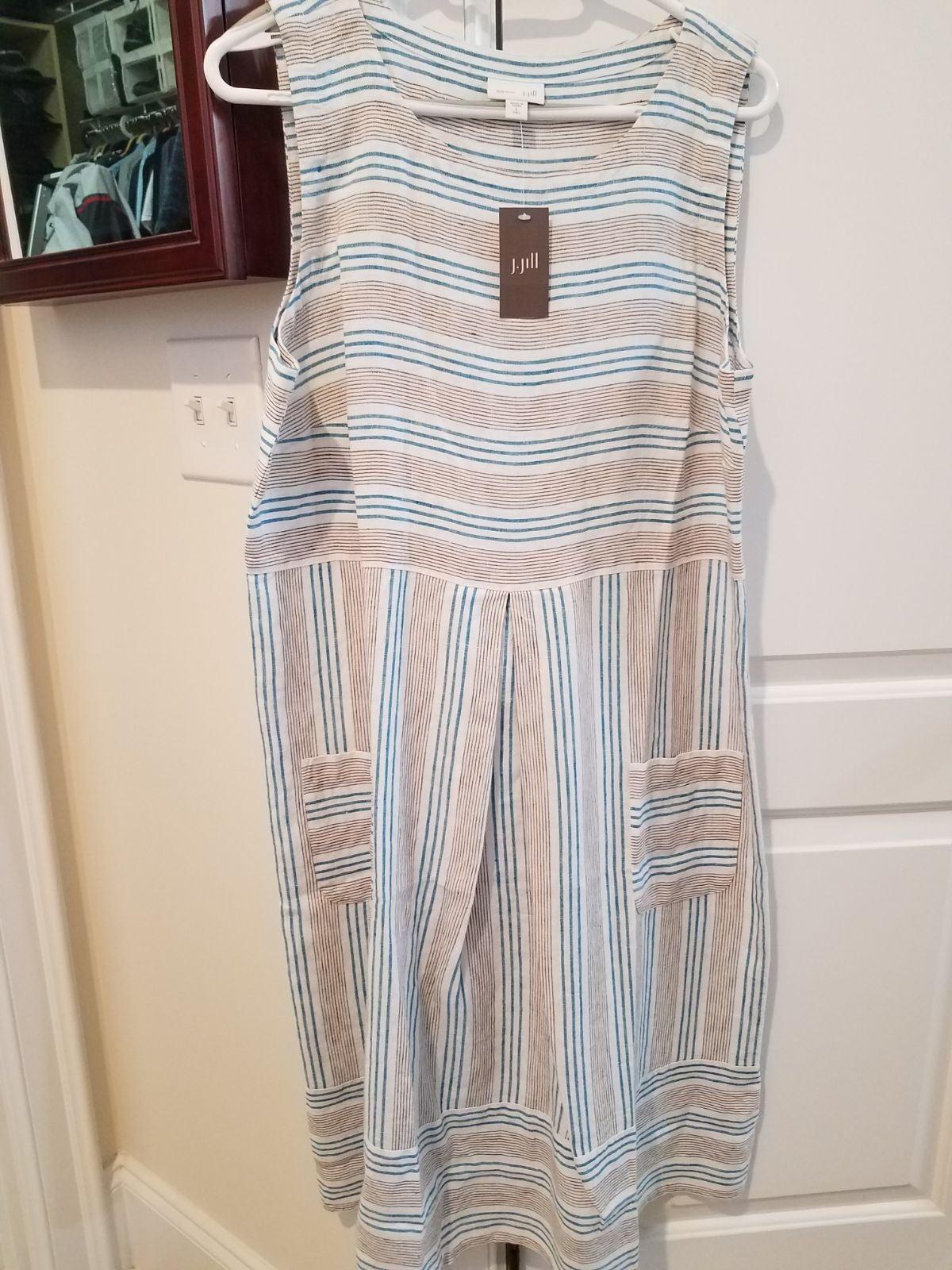 NWT j jill linen dress large