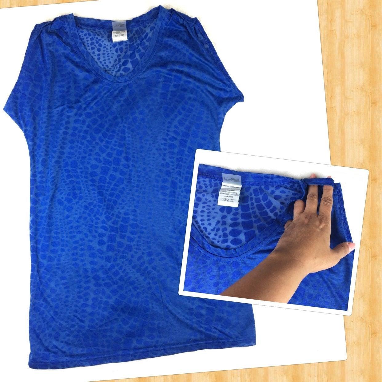 NWOT Swim Cover Up Royal Blue Sheer, M