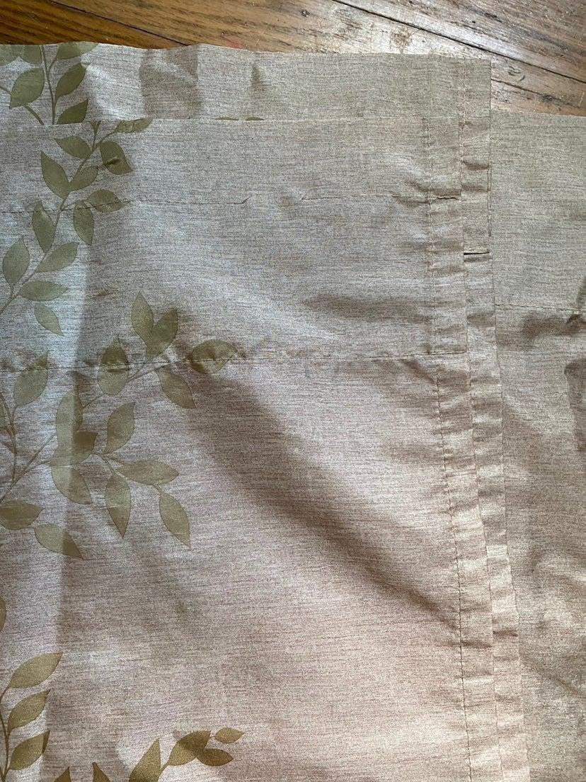 Flower pattern curtains 4 panels