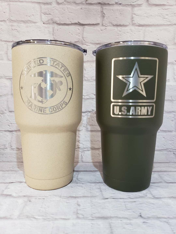 Custom laser emgraved cups