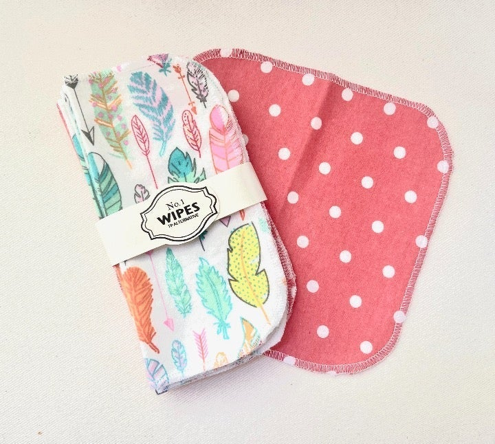 10 Washable Cloth Wipes- Baby, TP, Bidet