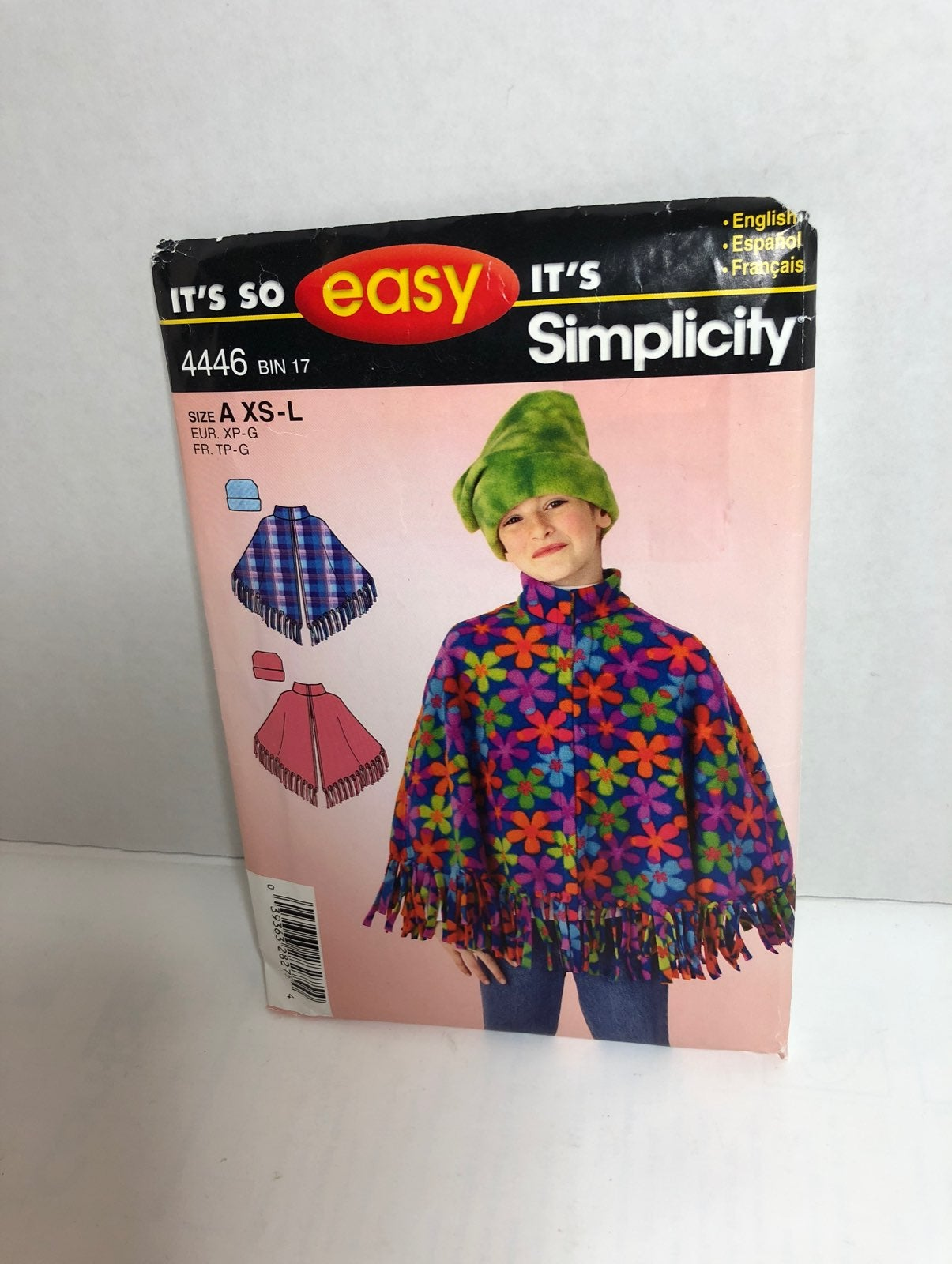 Simplicity 4446 Poncho & Hat Pattern