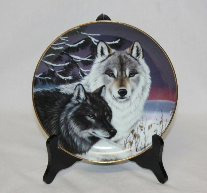 Eyes of Winter Wolves Collectible Plate