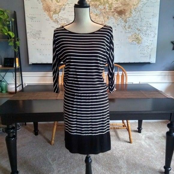 WHBM Striped Slouchy Dress XXS