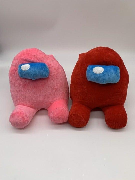 "Among Us Pink & Red Plush 8"" NEW"