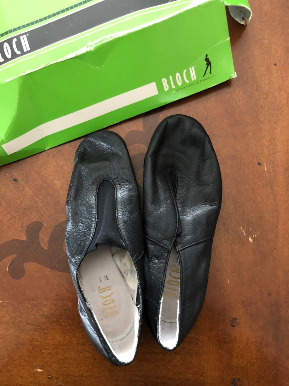 NEW Leather Black Ballet Shoes