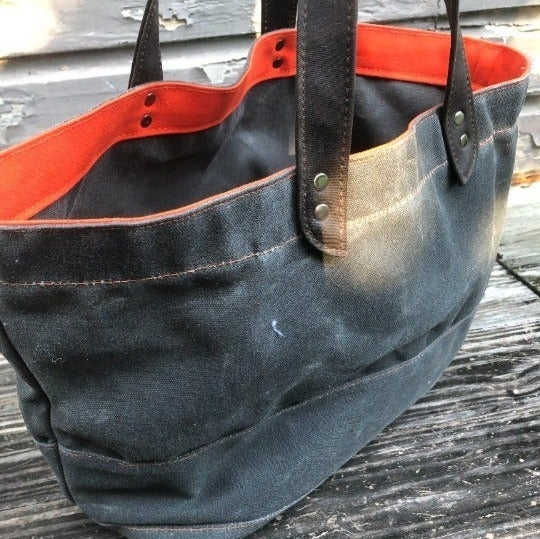 Charcoal Chic Canvas Durable Large Tote