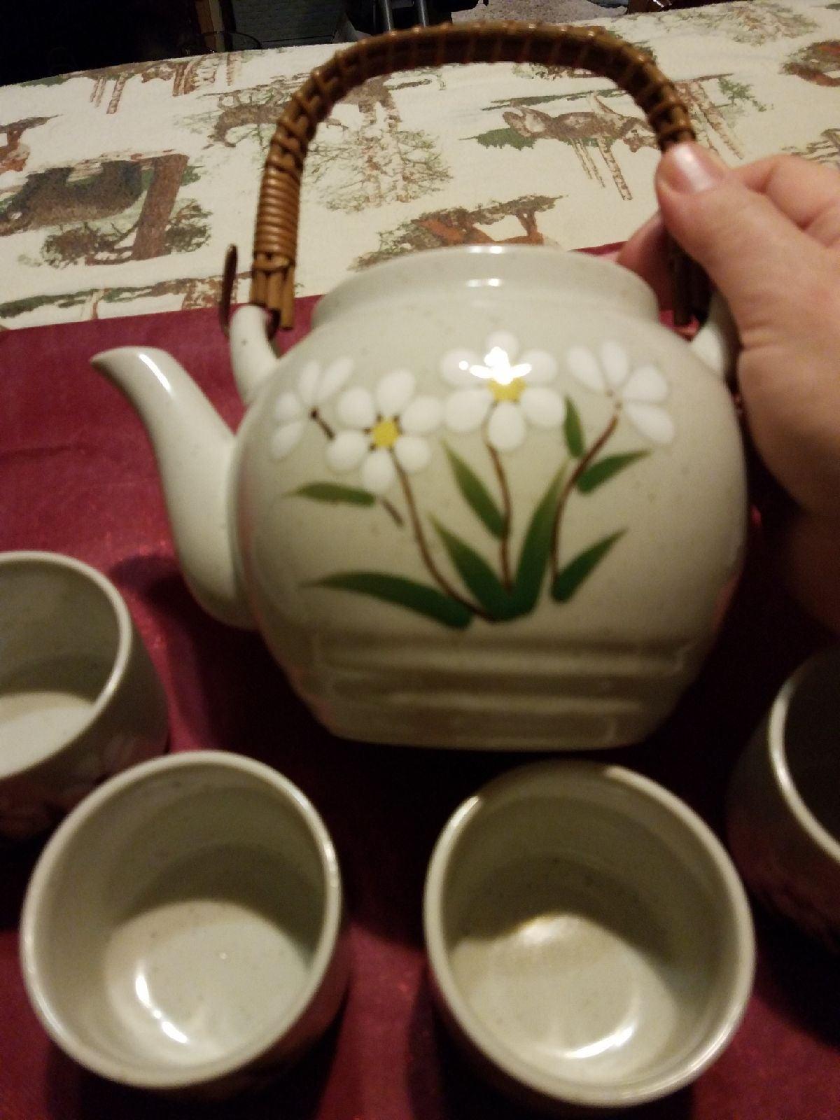 Vintage Flower Otagiri Tea Set