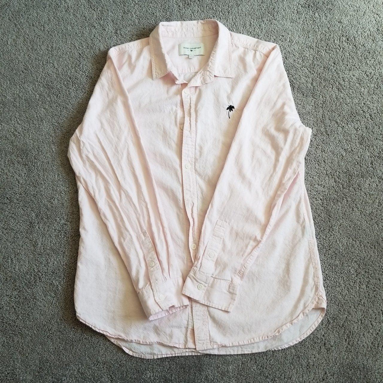 Modern Amusement pink button-up shirt